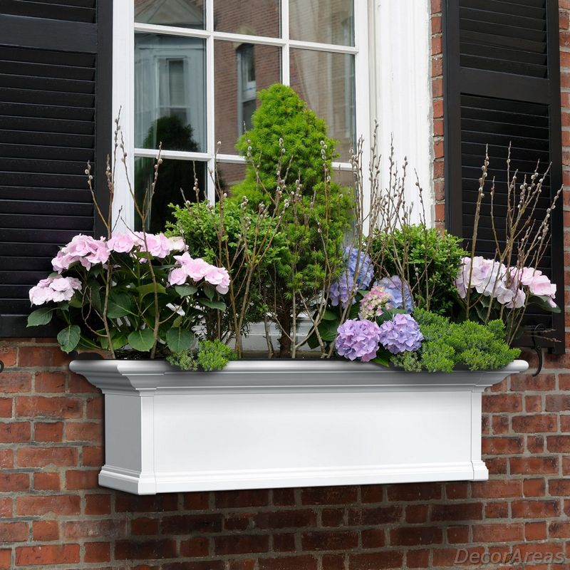Planter On A Picket Fence