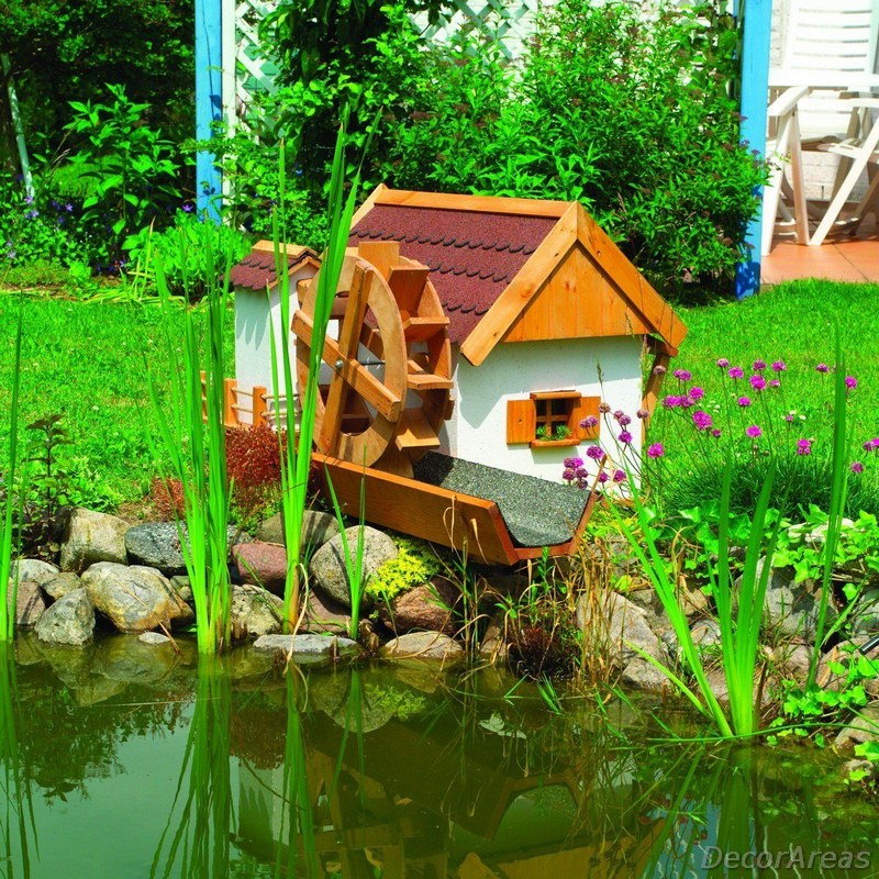 Small Water Mill For The Garden