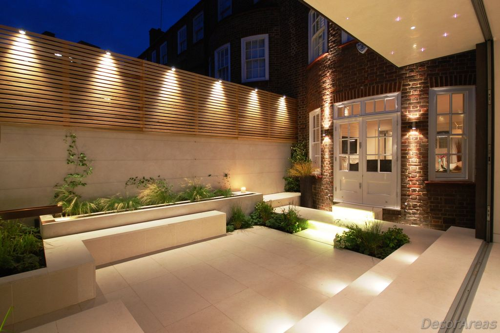 Small modern garden lighting