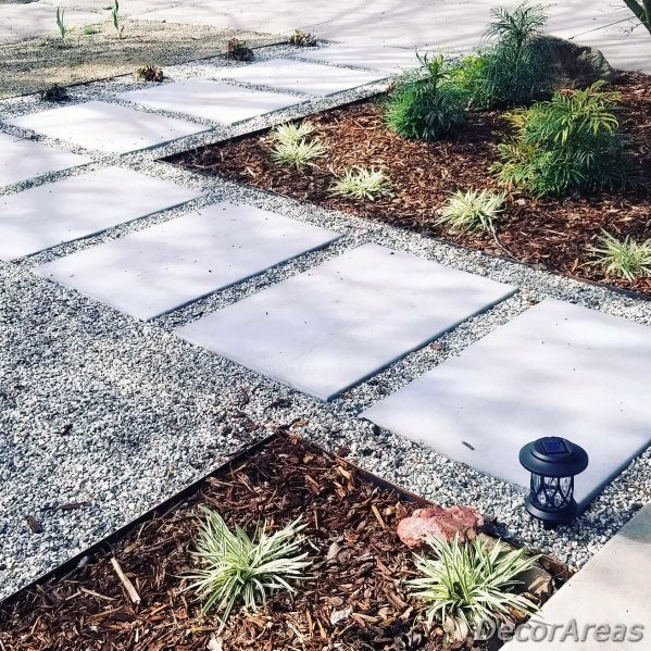 Stepping Stone Path With Gravel