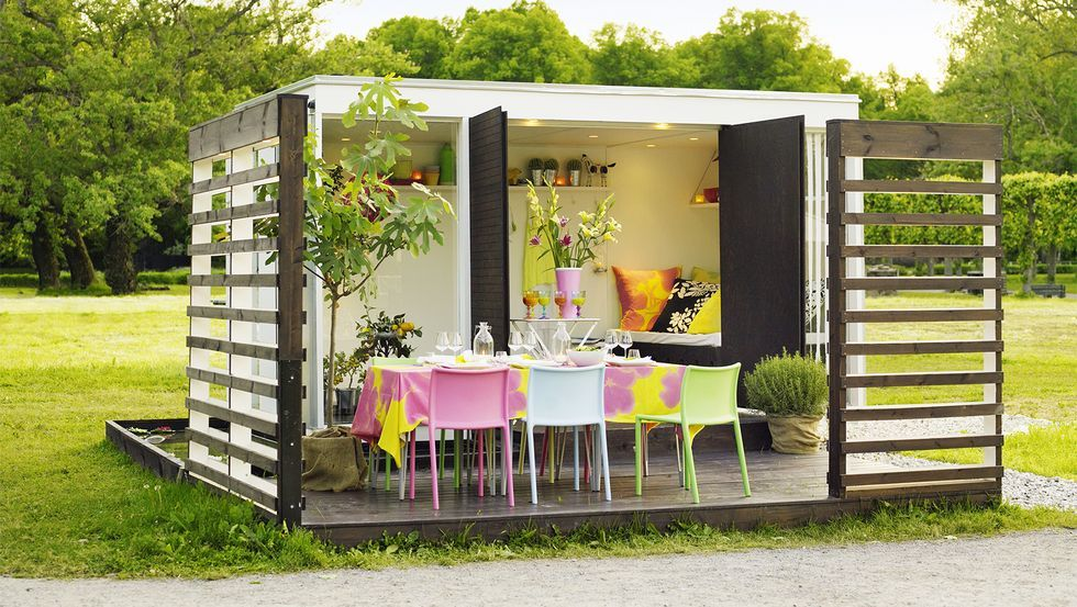 Turn a Shed Into a Dining Room