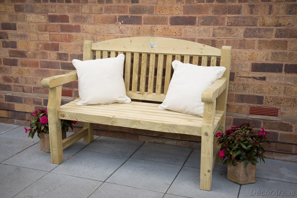 Wooden And Small Garden Seat