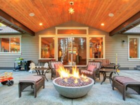 Fire Pit On Round Patio