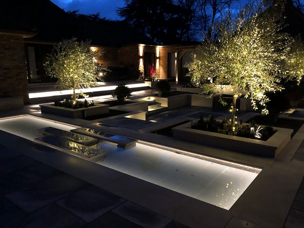 The Garden Lighting With Floor Lighting Only