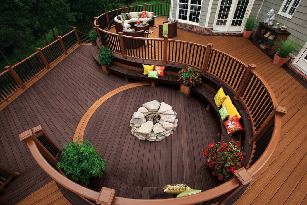 Fire Pit on Wooden Deck