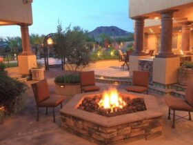 Hexagon Shaped Fire Pit