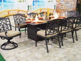 Patio Table With Fire Pit And Chairs