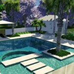 Pool With Stepping Stones