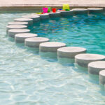 Round Stepping Stones for Pool