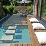 Square Stepping Stones for Pool
