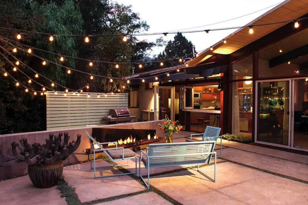 String Lights On The Patio