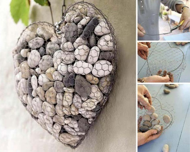 Wall Decoration Made of Stones