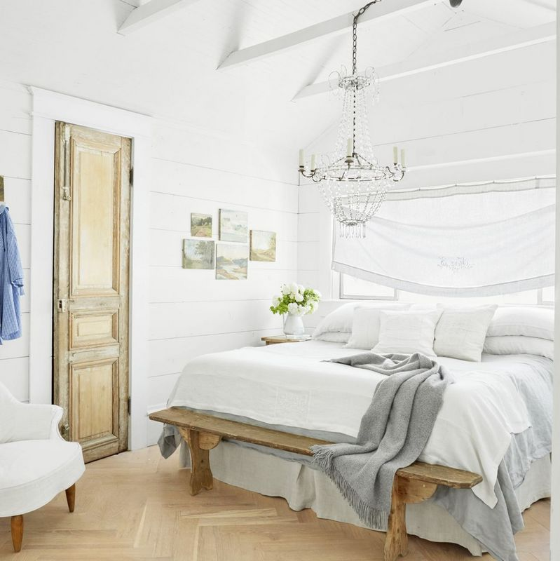 Warm All White Bedroom