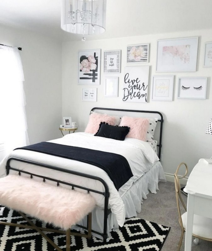 White Pink And Black Room