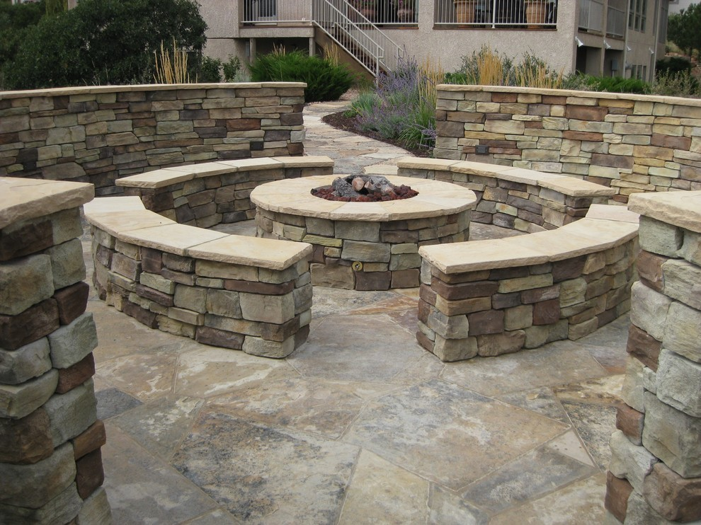 Stone Fire Pit With Seating